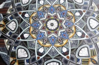 Lize Beekman's mandala art adorns the walls of De Malle Meul in Philadelphia outside Durbanville