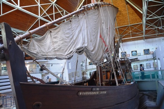 The caravel is not small but it would have taken guts to sail from Portugal around the tip of Africa