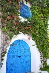 Bougaienvillaes groei welig in Sidi Bou Said