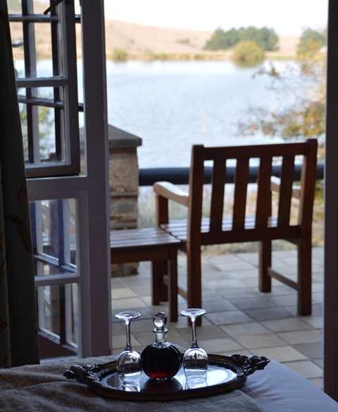 Complimentary sherry and a large fireplace make the chalet suites at Walkersons very cosy and the view adds to it all