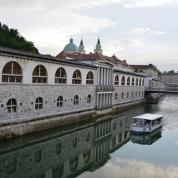 Daar is meer as een brug oor die Ljubljanarivier en elkeen bied 'n lieflike uitsig oor hierdie grenslyn