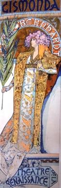 Die plakkaat wat Mucha vir Sarah Bernhardt gemaak het en wat tot sy roem gelei het