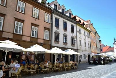 Ljubljana is bekend vir sy sypaadjiekultuur