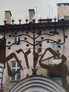 Ariel in die Joodse buurt van Krakow