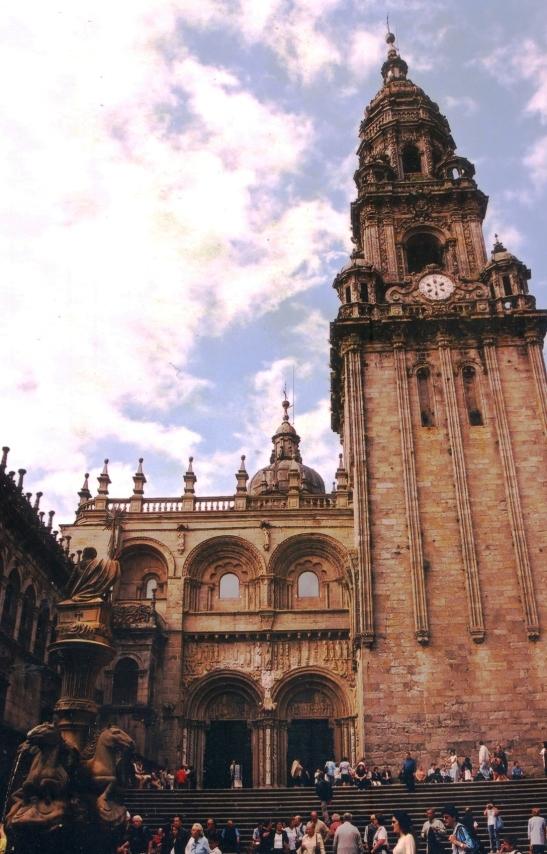 Die hoofkatedraal van Santiago di Compostela