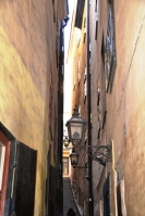 The narrowest street in Gamla Stan