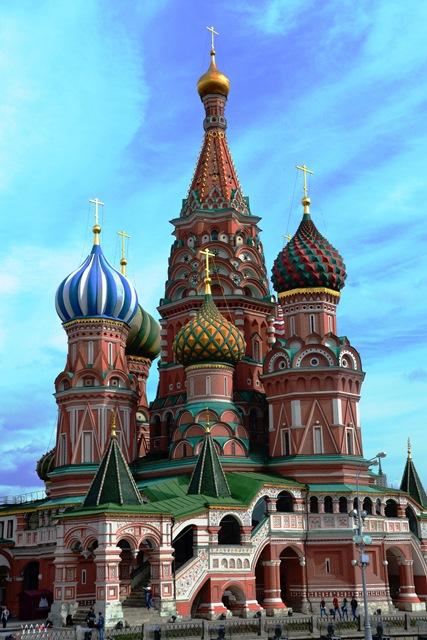 Die St. Basilius-katedraal op die Rooiplein in Moskou
