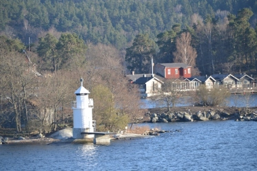 A mini lighthouse, one of many in the Swedish archipelago