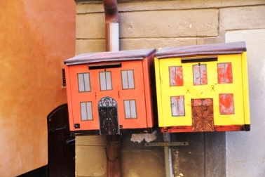Cute post boxes in the Old Town of Gamla Stan