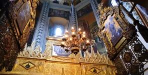 'n Gewyde hoekie in die St Basil Katedraal in Moskou, Rusland