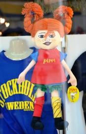 Pippi Longstocking in a shop window
