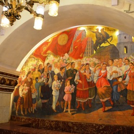 Each Moscow metro station on the main line is an art gallery in its own right