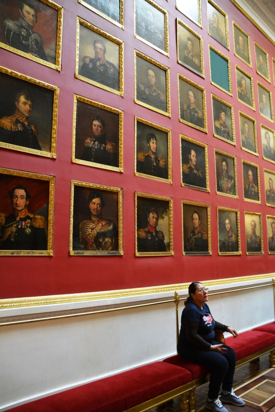 The Military Gallery in the Hermitage features 332 portraits of army generals