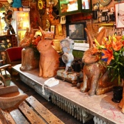 Bunnies line up at Szimpla Kert, the most popular ruin pub in Budapest