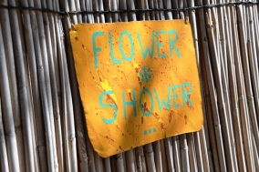 Each shower and each loo at Ngepi Camps hold some kind of surprise