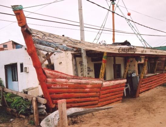Spot the devil at one of the establishments in Punta del Diablo