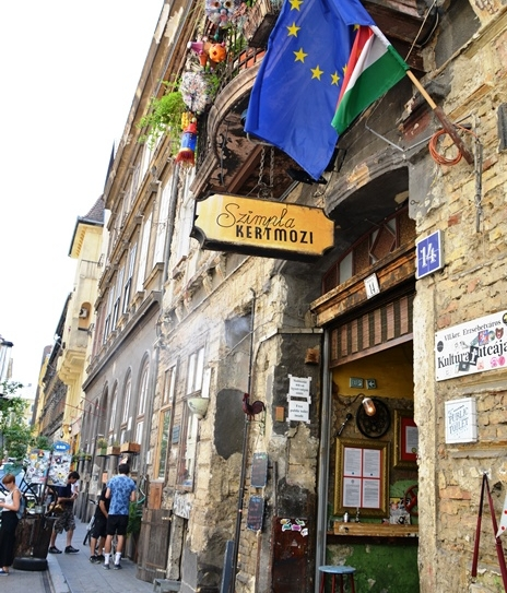 Szimpla Kert means 'simple garden' but there is nothing simple about this popular ruin pub