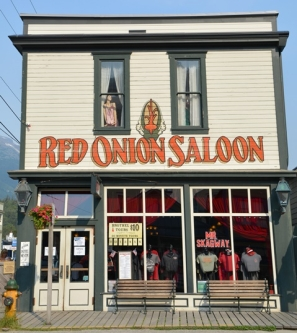 The Red Onion Saloon in Skagway houses a restaurant and bar as well as a brothel museum