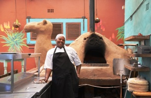 A camel pizza oven at Camel Rock Restaurant in Scarborough
