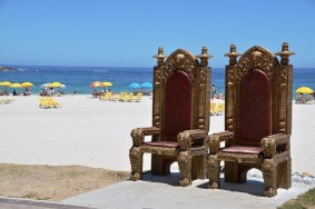 Fancy a throne on Camps Bay beach...
