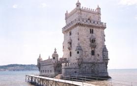 Net mooi van hier het Vasco da Gama vertrek alhoewel die toring van Belem eers later opgerig is